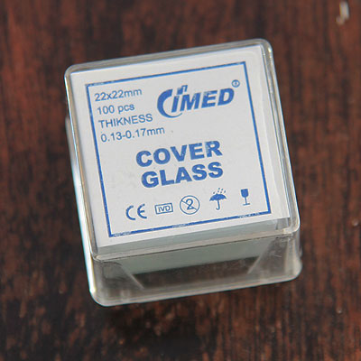 Box of 100 Microscope Cover Slides