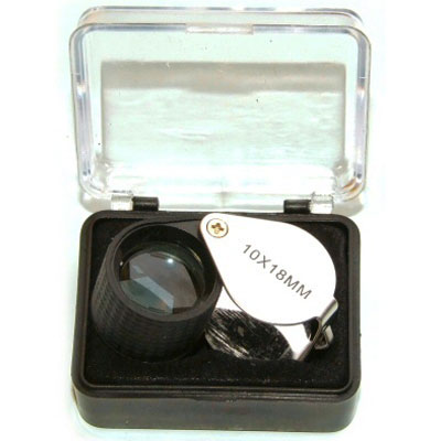 10x Field Hand Lens Magnifying Loupe