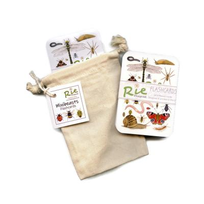 2 Pack Childrens Garden Minibeasts Invertebrates Insects Flashcards