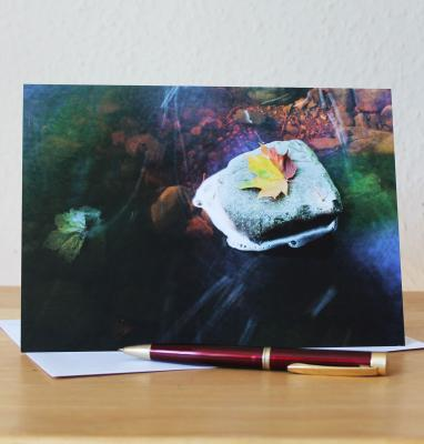Autumn Leaf Large A5 Blank Photographic Greetings Card