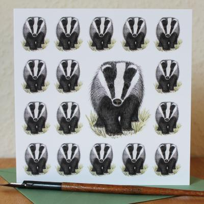 Badger Blank Greetings Card