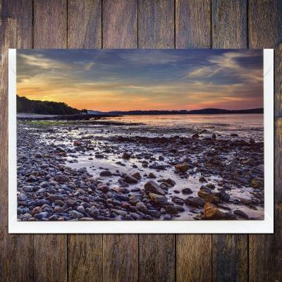 Balcary Bay Sunset Blank A6 Photographic Greetings Card
