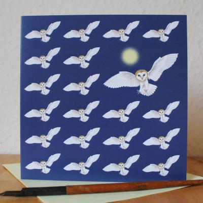 Barn Owl Blank Greetings Card