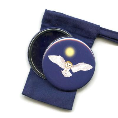 Barn Owl Pocket Handbag Mirror