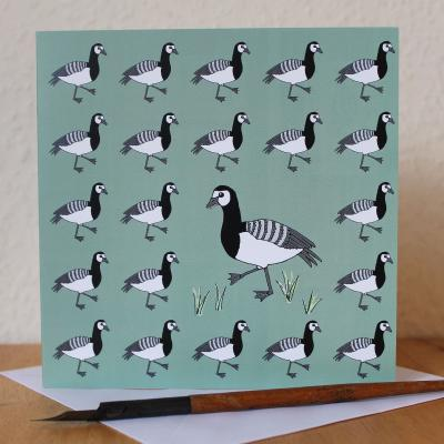 Barnacle Geese Blank Greetings Card