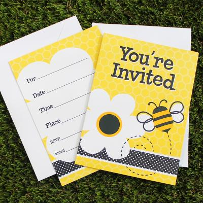 Bee Party Invitation Cards
