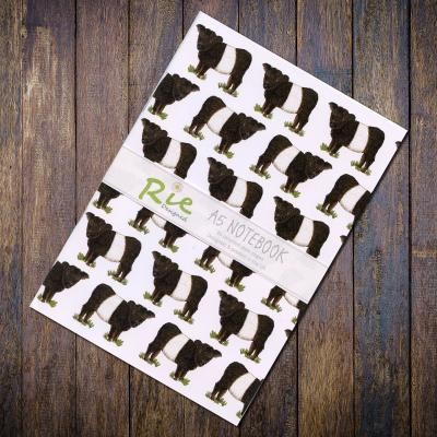 Belted Galloway Cow A5 Recycled Notebook