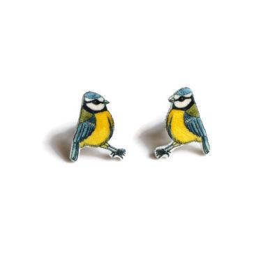 Bluetit Stud Earrings