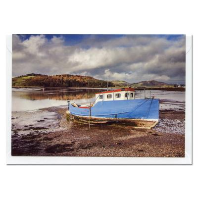 Boat at Kippford Blank A6 Photographic Greetings Card