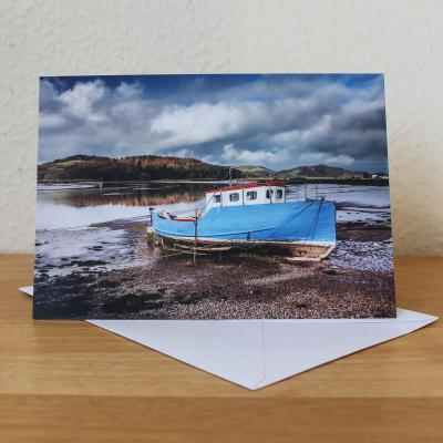 Boat at Kippford Blank Photographic Greetings Card