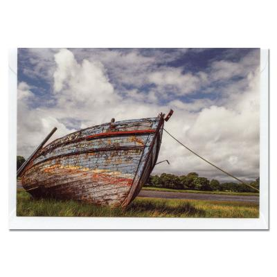 Old Boat at Kirkcudbright A6 Blank Photographic Greetings Card