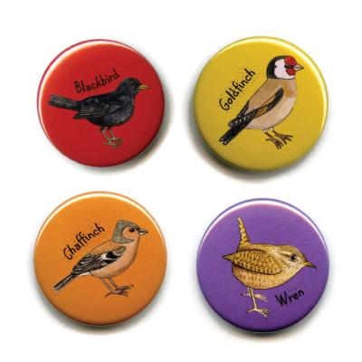 Four British Garden Birds Fridge Magnets 1
