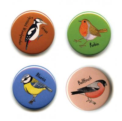 Four British Garden Birds Fridge Magnets 2
