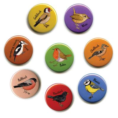 Eight British Garden Birds Fridge Magnets 1
