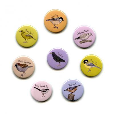 Eight British Garden Birds Fridge Magnets 2