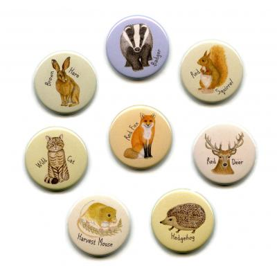 Eight British Wild Animal Fridge Magnets