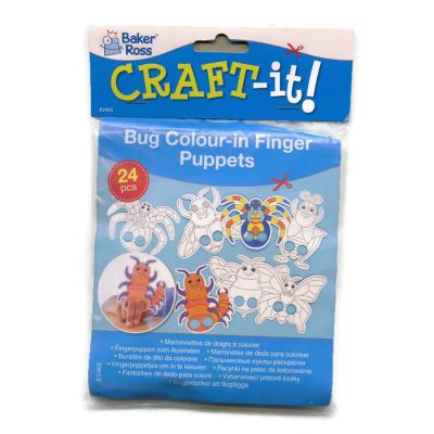 24 Bug Colour In Finger Puppets