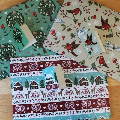 Christmas Gift Wrap Pack with Tags