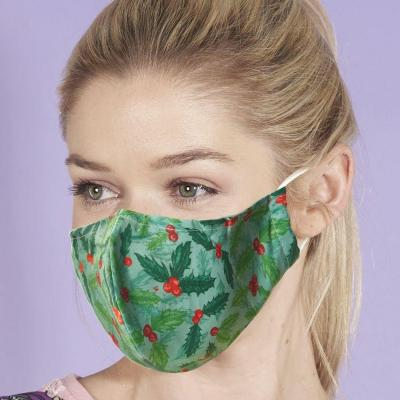 Christmas Holly Reusable Mace Mask Covering