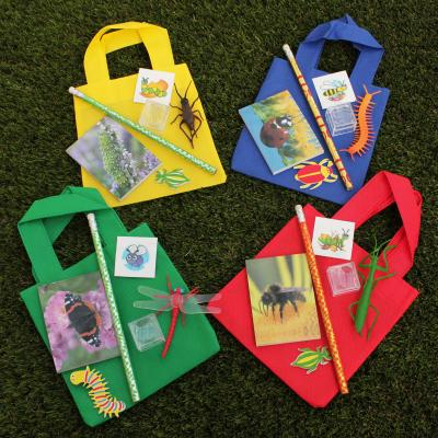 Pack of Four Bugs Filled Party Bags
