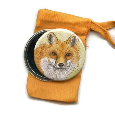Fox  Pocket Handbag Mirror