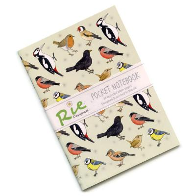 British Garden Birds A6 Recycled Notebook