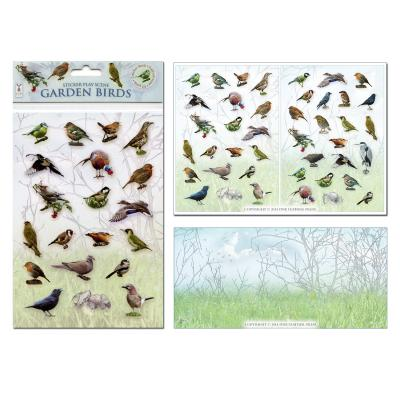 Garden Birds Sticker Play Scene