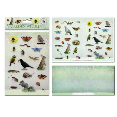 Garden Wildlife Sticker Play Scene