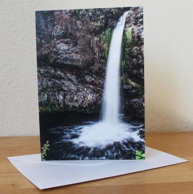 Grey Mares Tail Blank Photographic Greetings Card