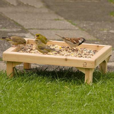 Wooden Ground Feeding Table Tray