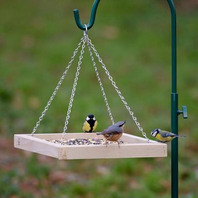 Wooden Hanging Bird Feeder Table Tray