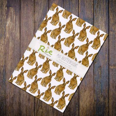 Brown Hare A5 Recycled Notebook