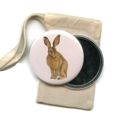 Hare Pocket Handbag Mirror