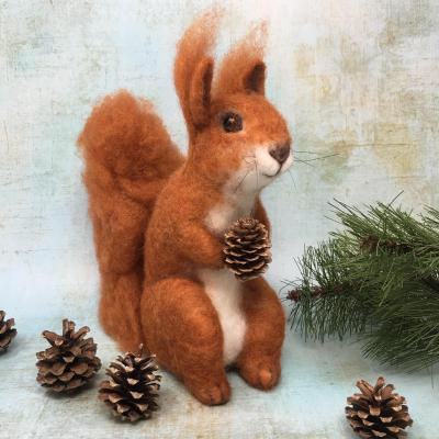 Highland Red Squirrel Needlefelting Kit