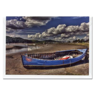 Kayak at Kippford Blank A6 Photographic Greetings Card
