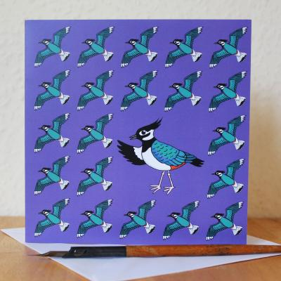 Lapwing Blank Greetings Card
