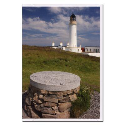 Mullof Galloway Lighthouse and Topograph Blank Photographic Greetings Card A6