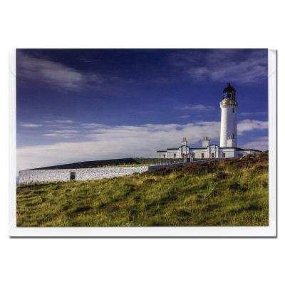 Mullof Galloway Lighthouse Blank Photographic Greetings Card A6