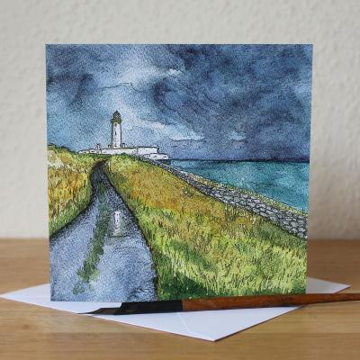 Mull of Galloway Storm Logan Gardens Blank Greetings Card