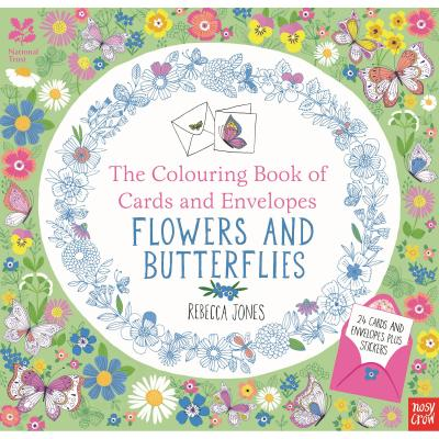 National Trust Colouring Book Cards and Envelopes Flowers and Butterflies