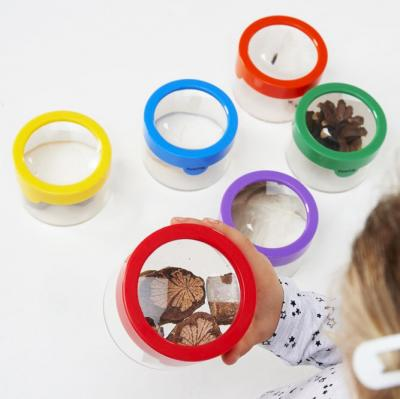 Pack of 6 Rainbow Magnifying Bug Pots
