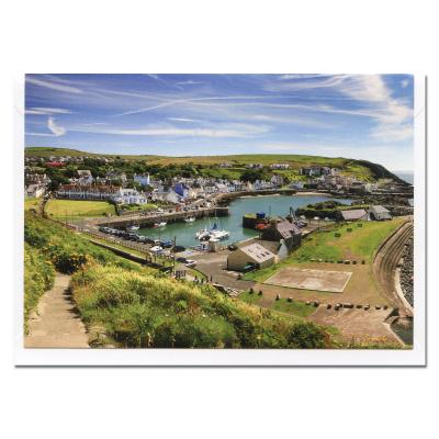Portpatrick Harbour Blank Photographic Greetings Card A6