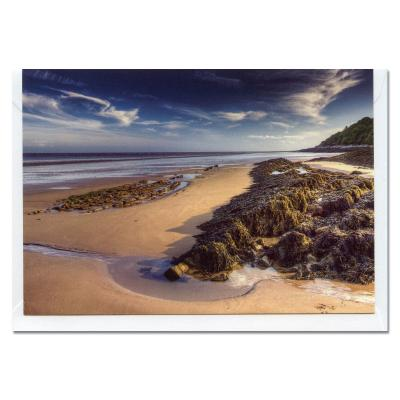 Powillimount Beach Blank A6 Photographic Greetings Card