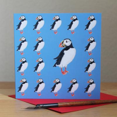 Puffin Blank Greetings Card