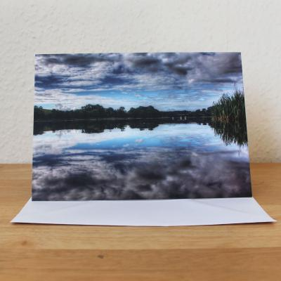 Reflections Carlingwark Loch Dumfries and Galloway Greetings Card