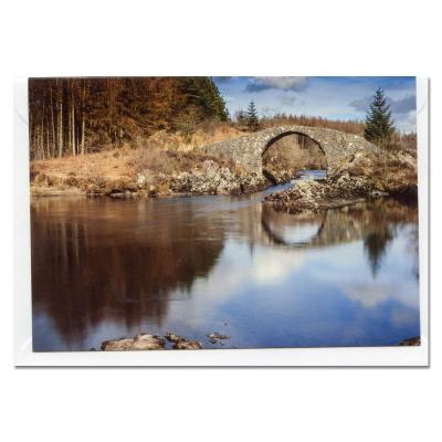 Roman Bridge Dumfries and Galloway Blank Photographic Greetings Card A6