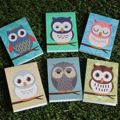 Six Mini Owl Note Pads
