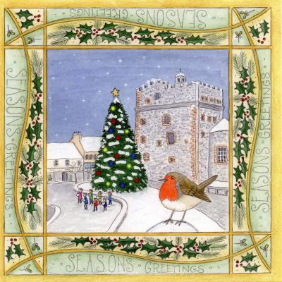 Snowy Robin Stranraer Blank Christmas Greetings Card