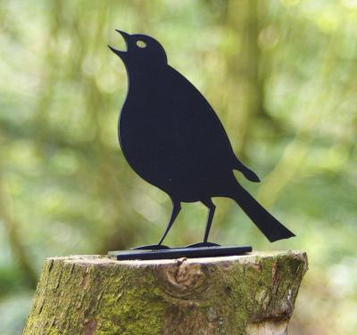 Song Thrush Post Topper Garden Bird Ornament