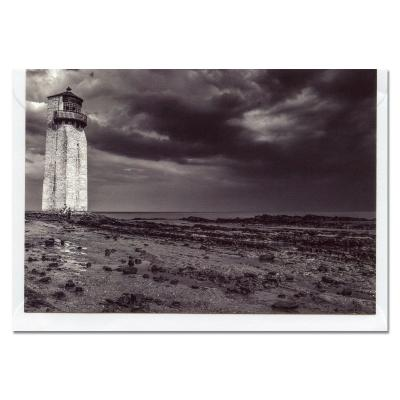 Southerness Lighthouse BW A6 Blank Photographic Greetings Card